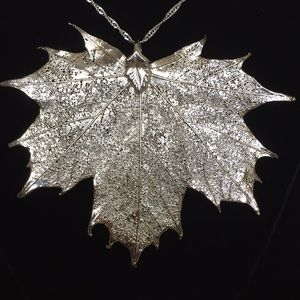 Jewelry - Real leaf dipped in sterling silver